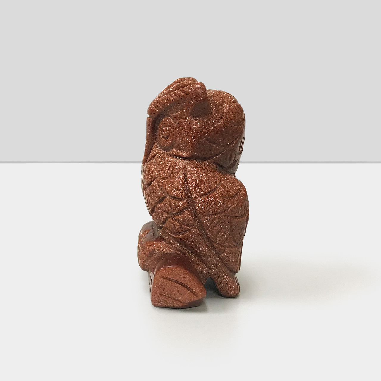 Gorgeous Hand Carved Goldstone