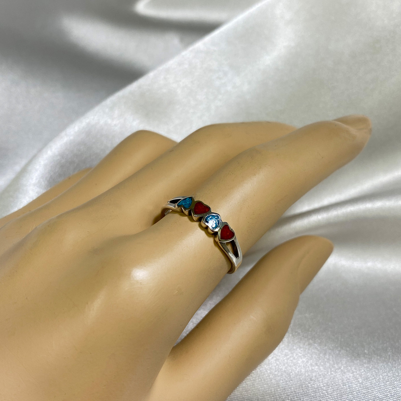 Turquoise and Coral Gemstone