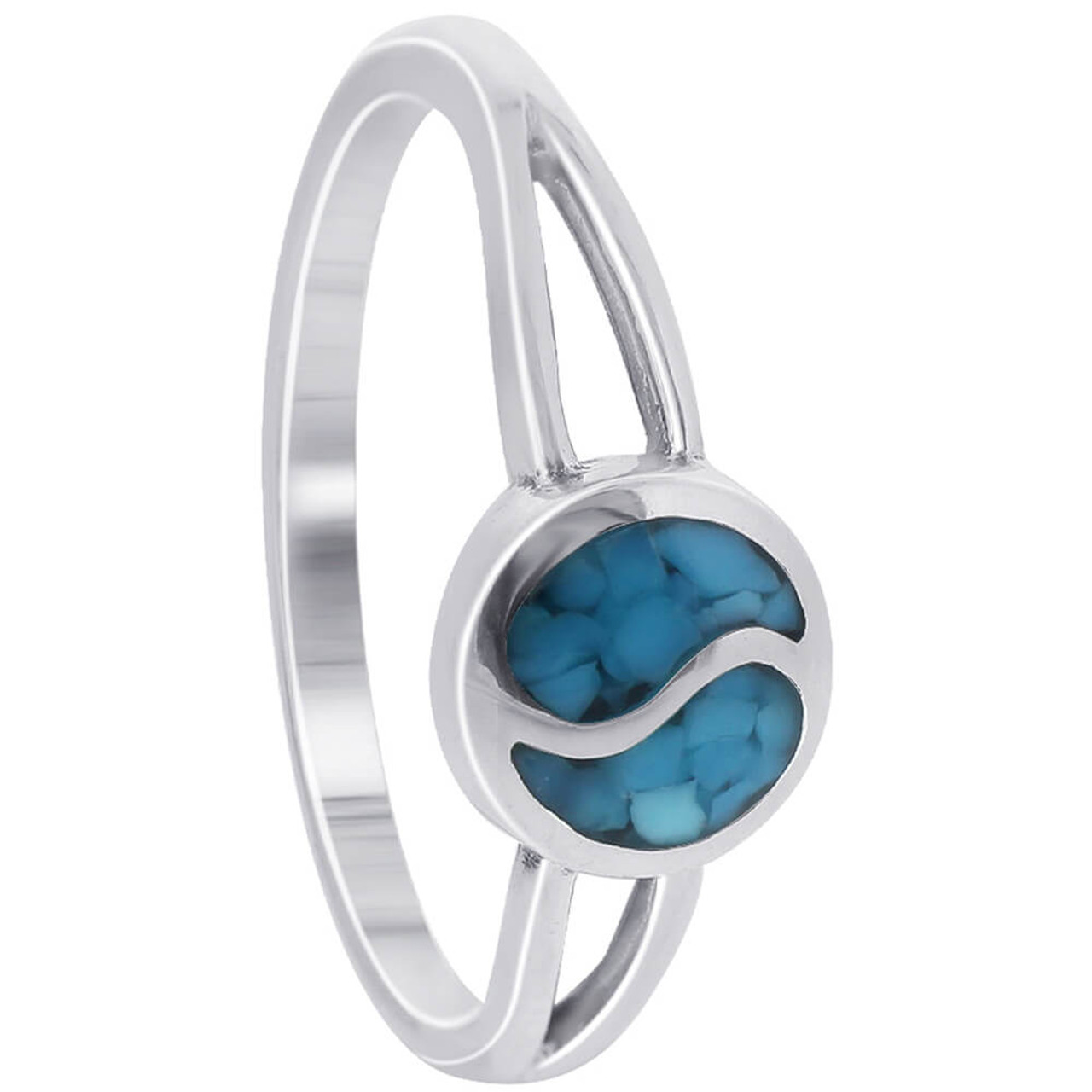 925 Sterling Silver Turquoise Gemstone Ring