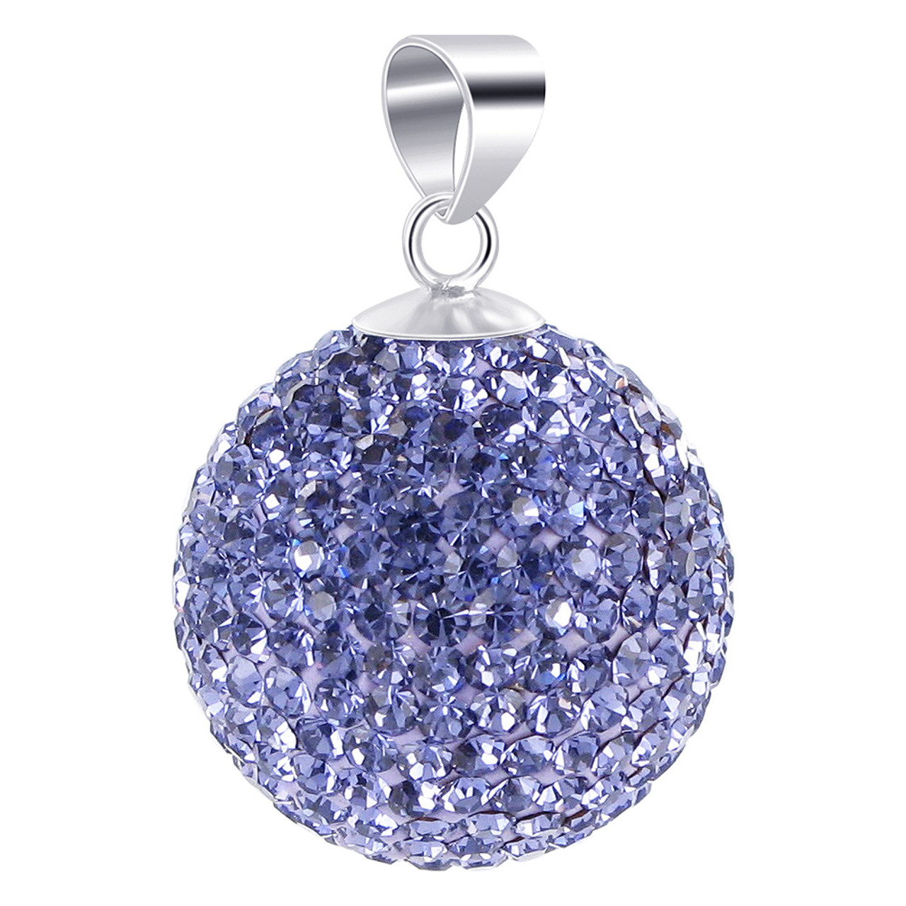 Round Tanzanite Color Disco Ball 925 Silver Pendant