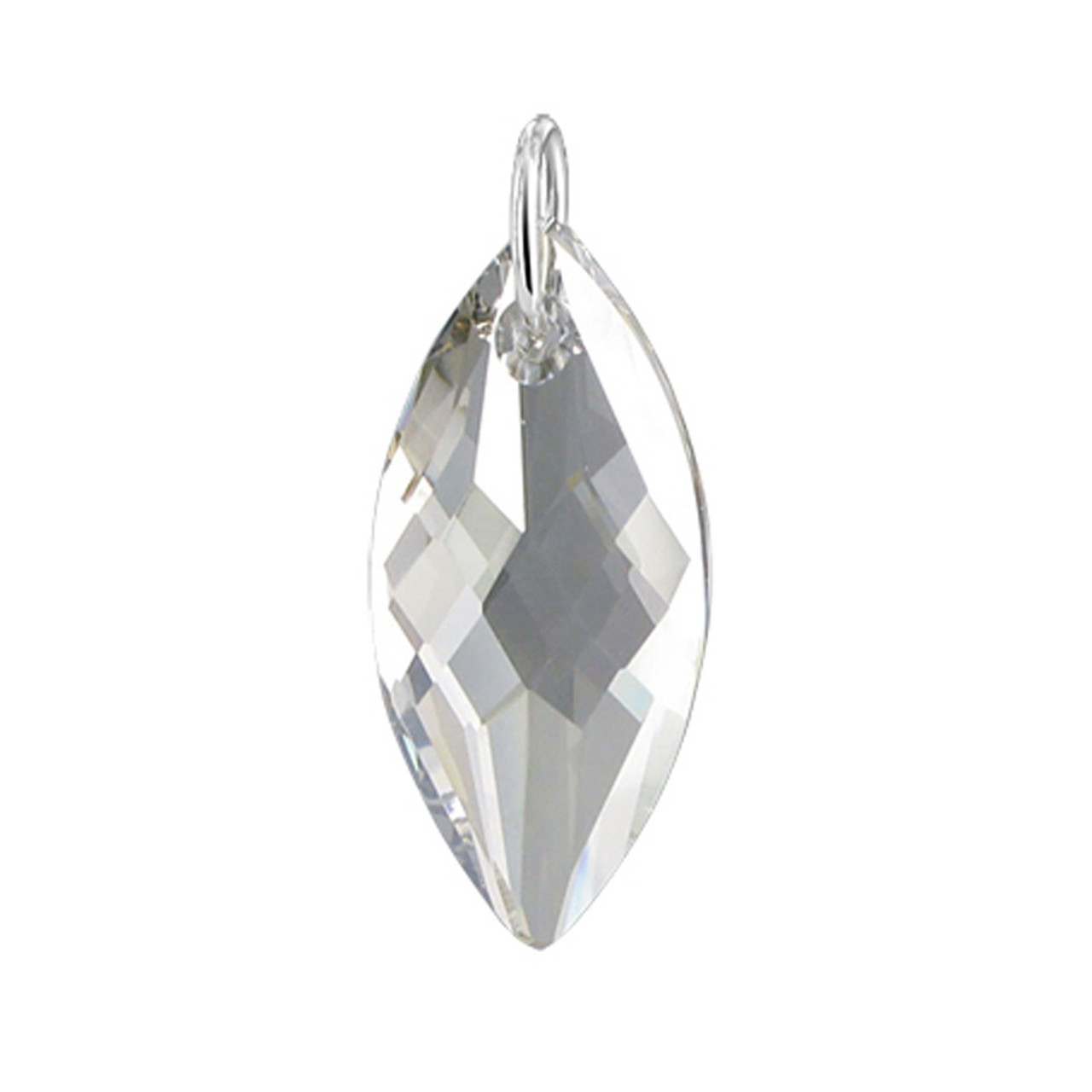 Silver Shade Multifaceted Crystal Sterling Silver Pendant