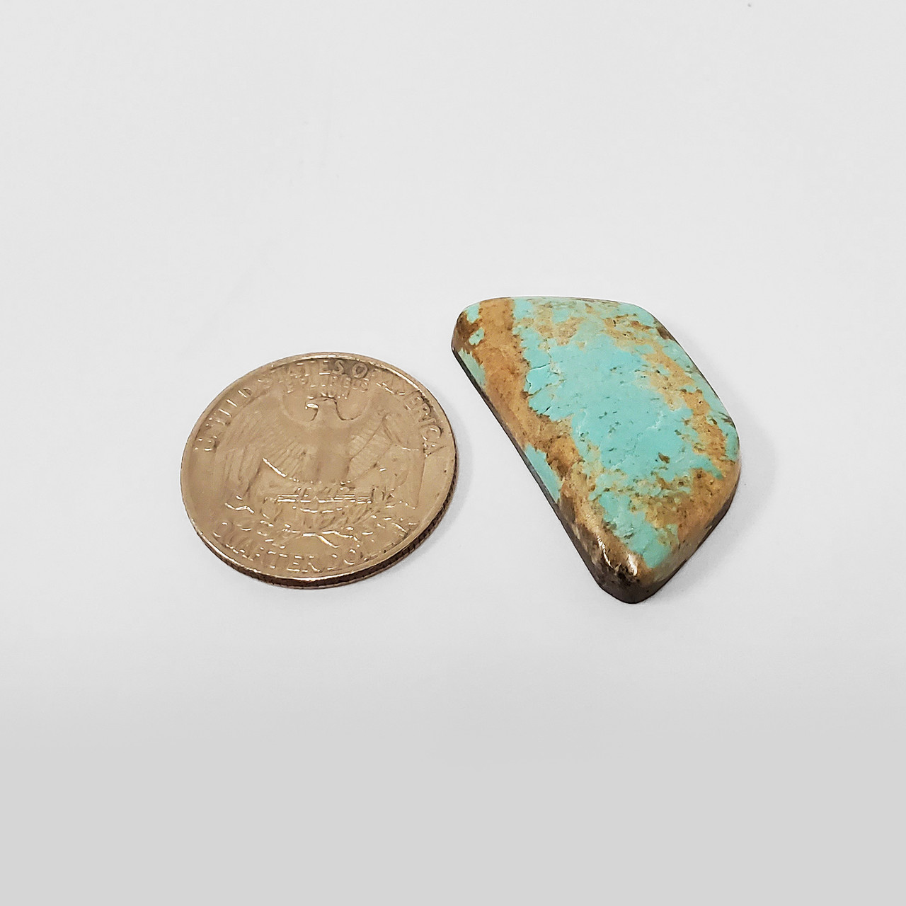 Natural #8 Turquoise 29 Carat Cabochon Gemstone for Jewelry Making DIY