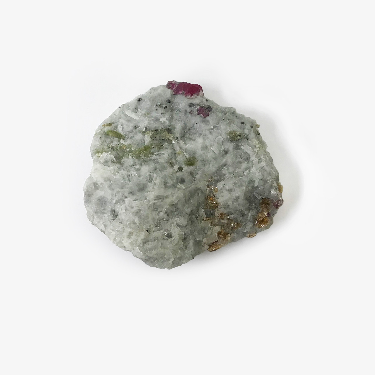 Flat and Unique Rough Ruby Crystal Gemstone Mineral Specimen from Pakistan