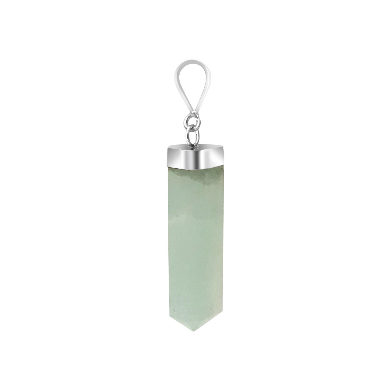 Natural Blue Calcite Crystal 925 Silver Pendant