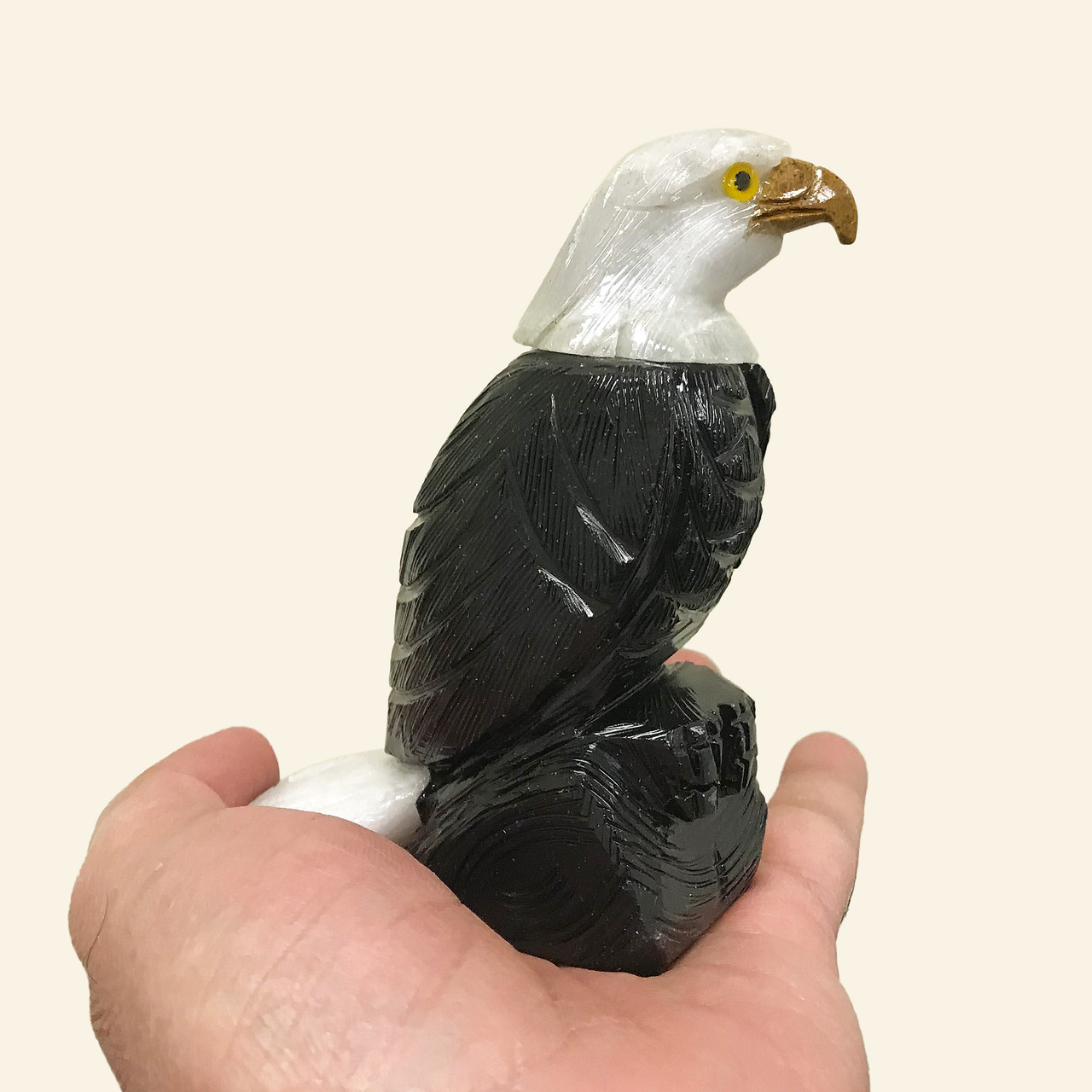 Eagle Figurine Onyx Crystal Gemstone