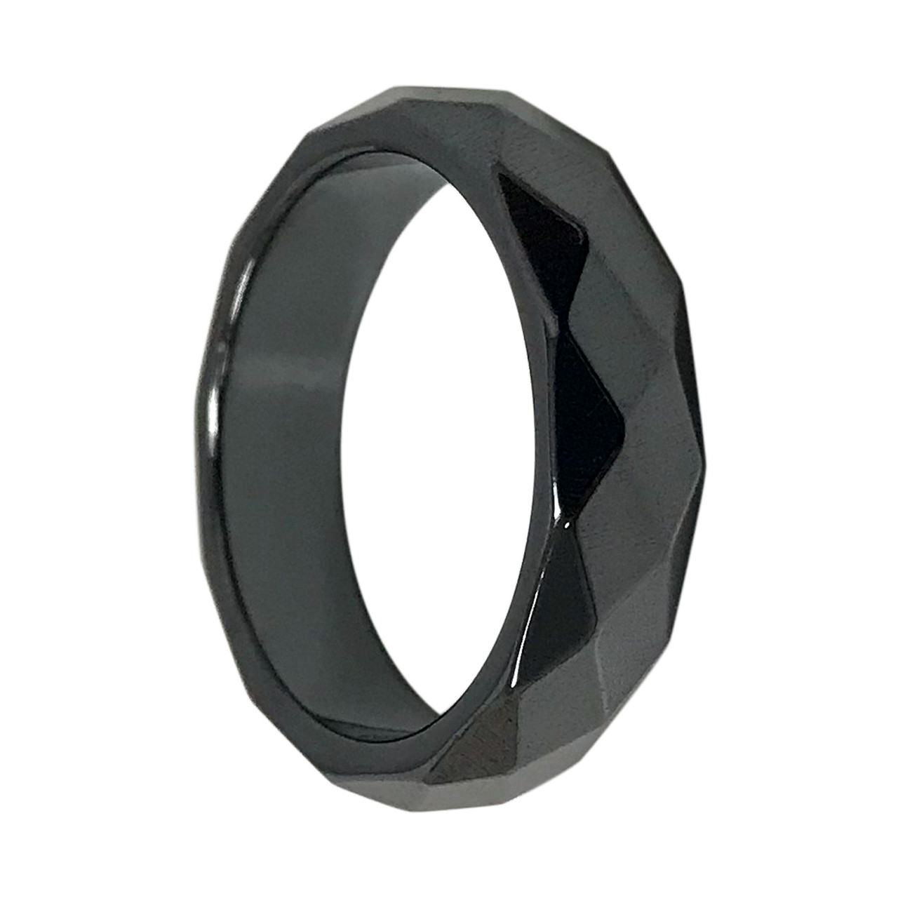 Simulated Magnetic Hematite Band Ring