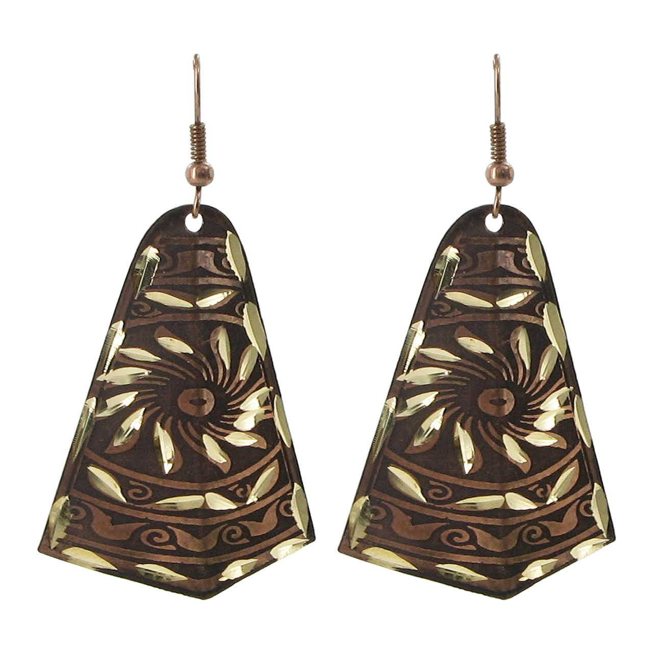 1 x 1.7 inch Designer Fashion Drop Earrings with French Wire Findings