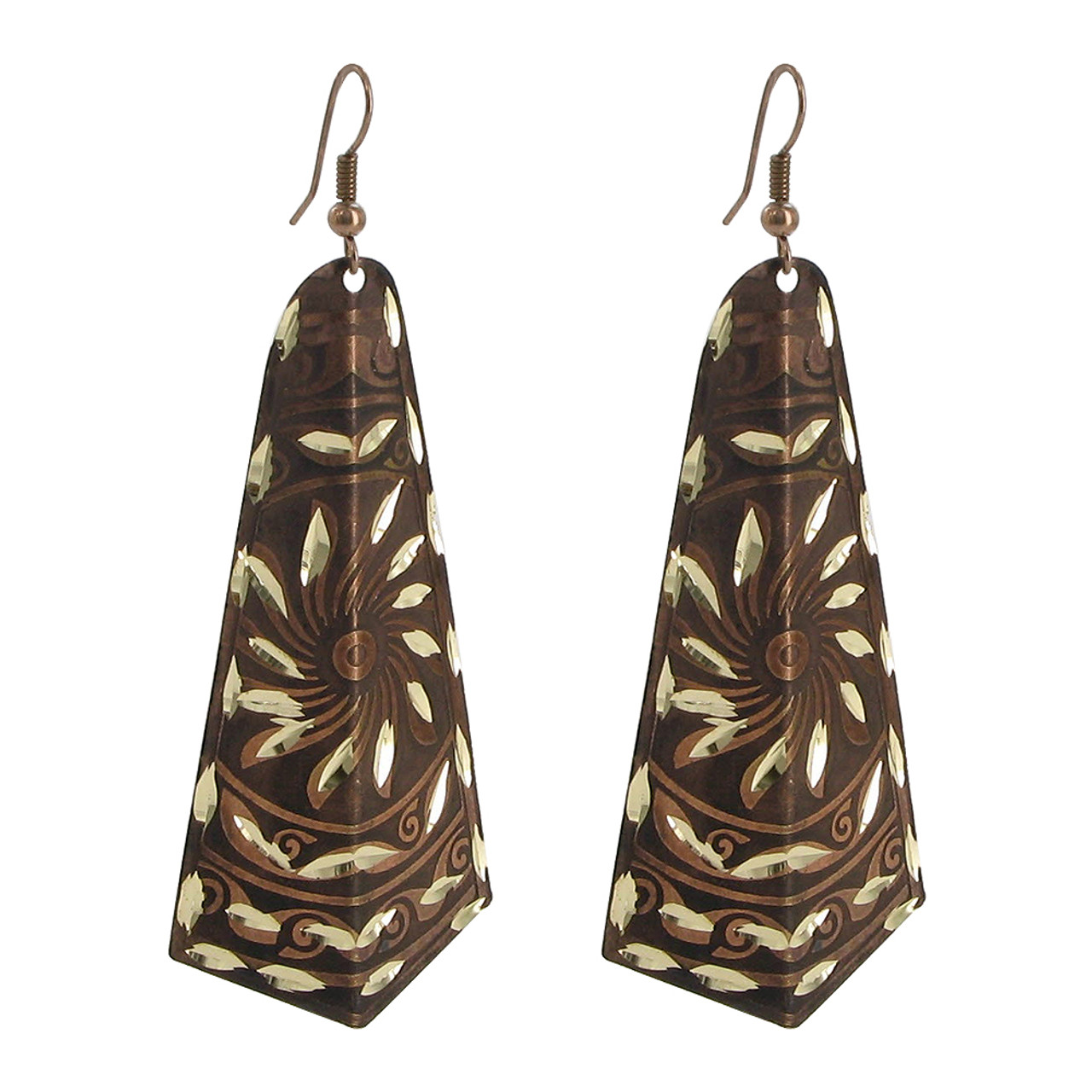 1 x 2.7 inch Designer Fashion Drop Earrings with French Wire Findings