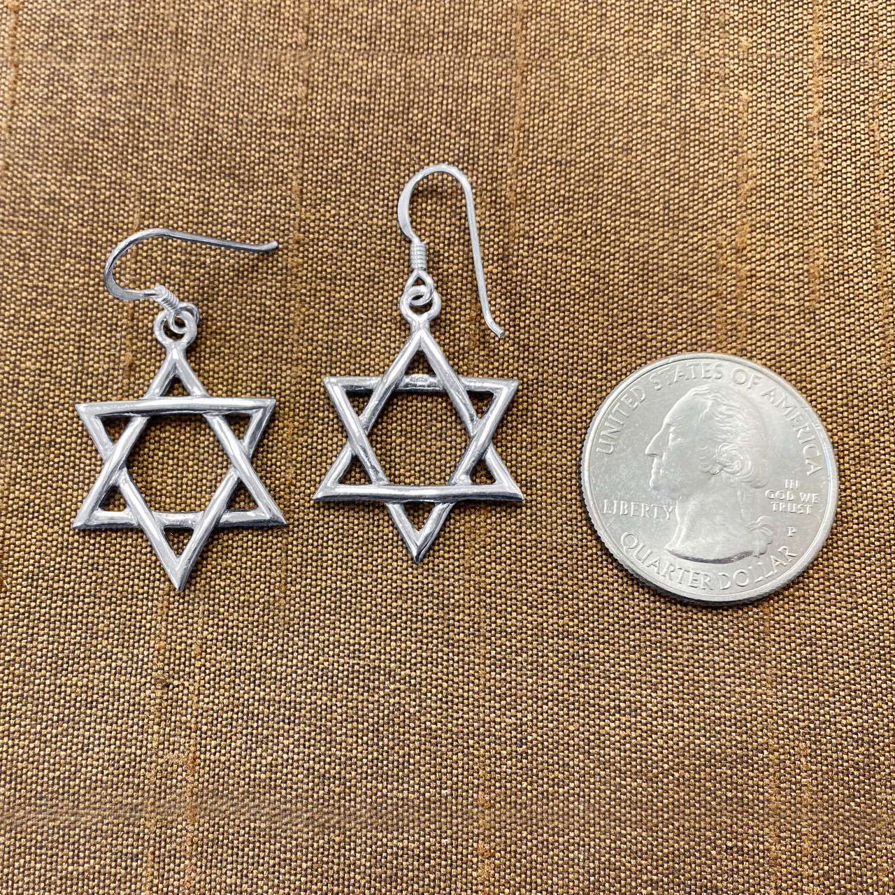 Sterling Silver Star Dangle Earrings