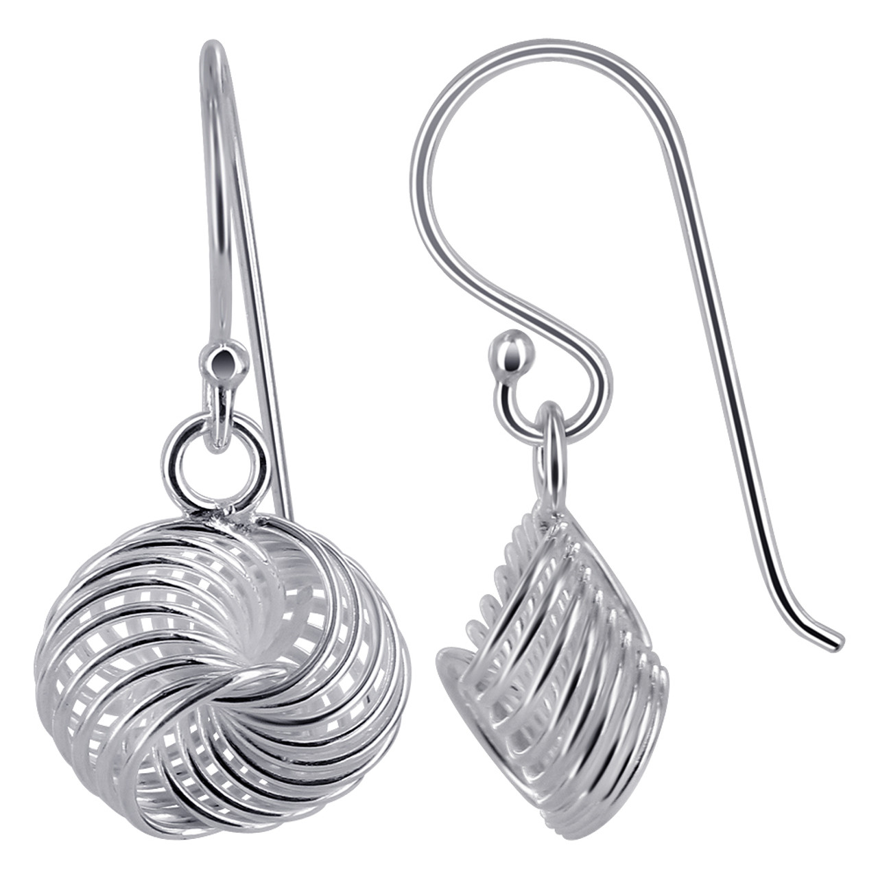 Knot Design Drop Earrings