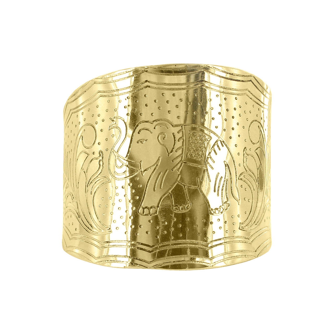 Elephant and Leaves Story telling Cuff Bracelets