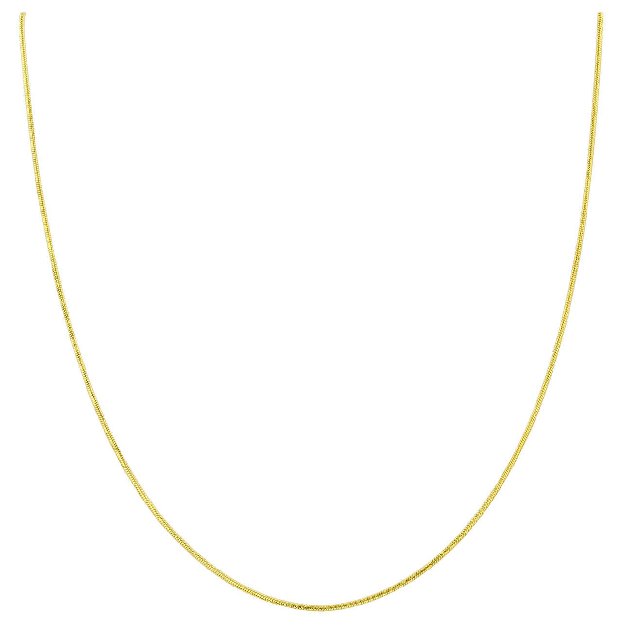 14k Gold Over Vermeil Snake Chain Necklace
