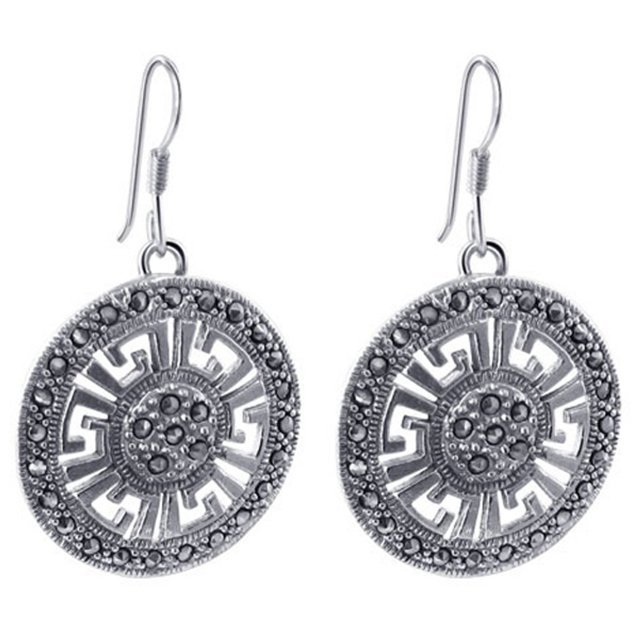 Sterling Silver Dangle Earrings and Pendant Jewelry Set