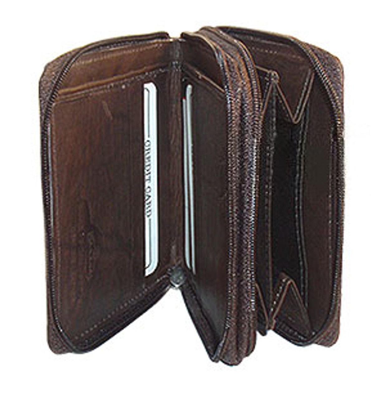 Brown Leather Credit Card Holder 4.75 x 3.75 inch Wallet