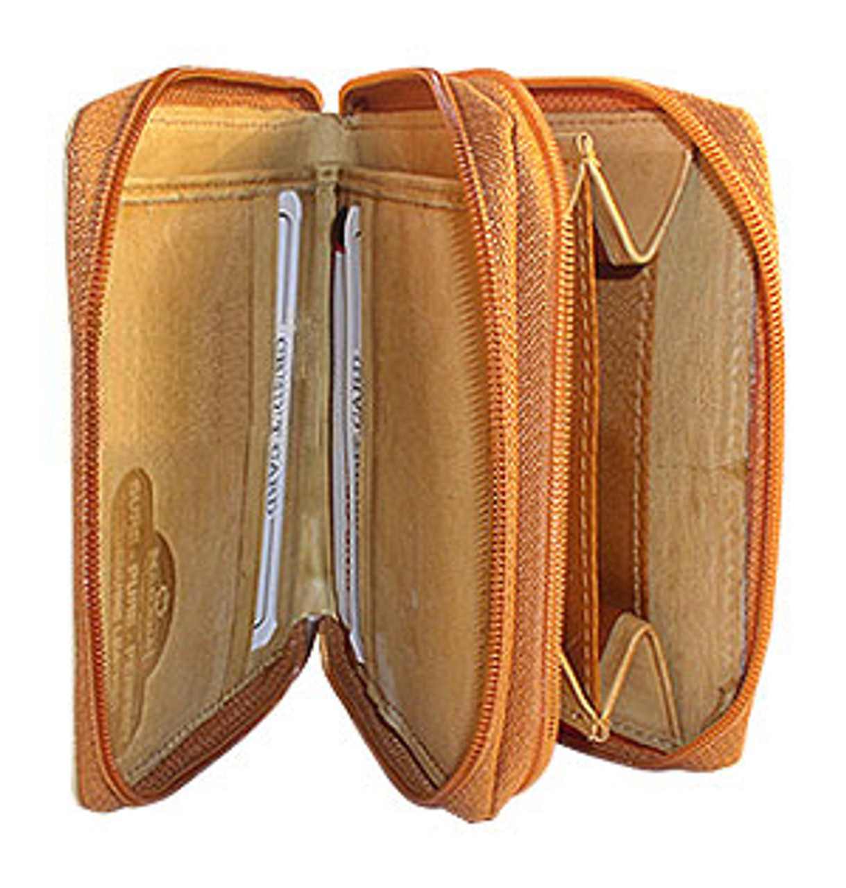 Tan Leather Credit Card Holder 4.75 x 3.75 inch Wallet