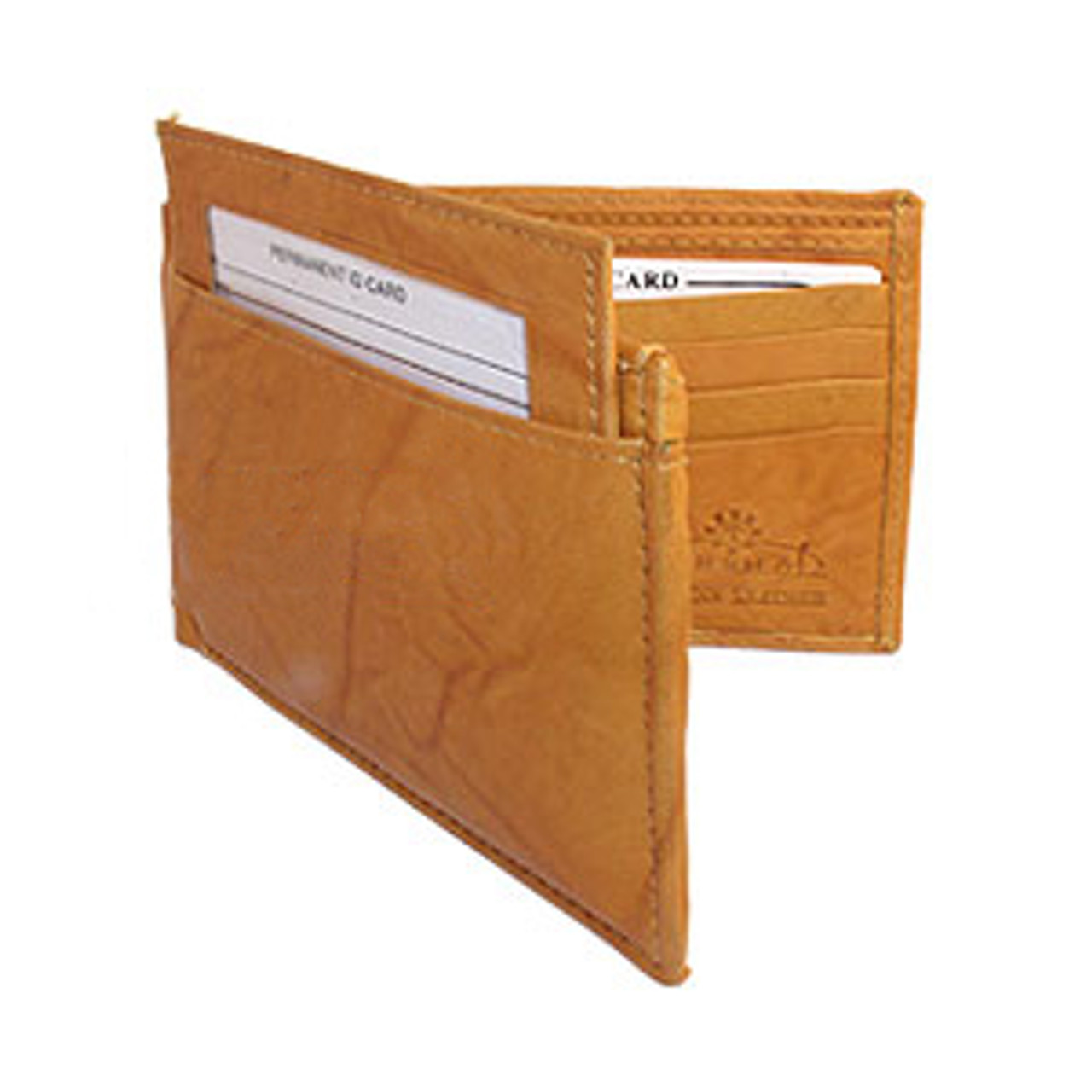 Mens BiFold Pull-out Credit Card Holder Tan Wallet