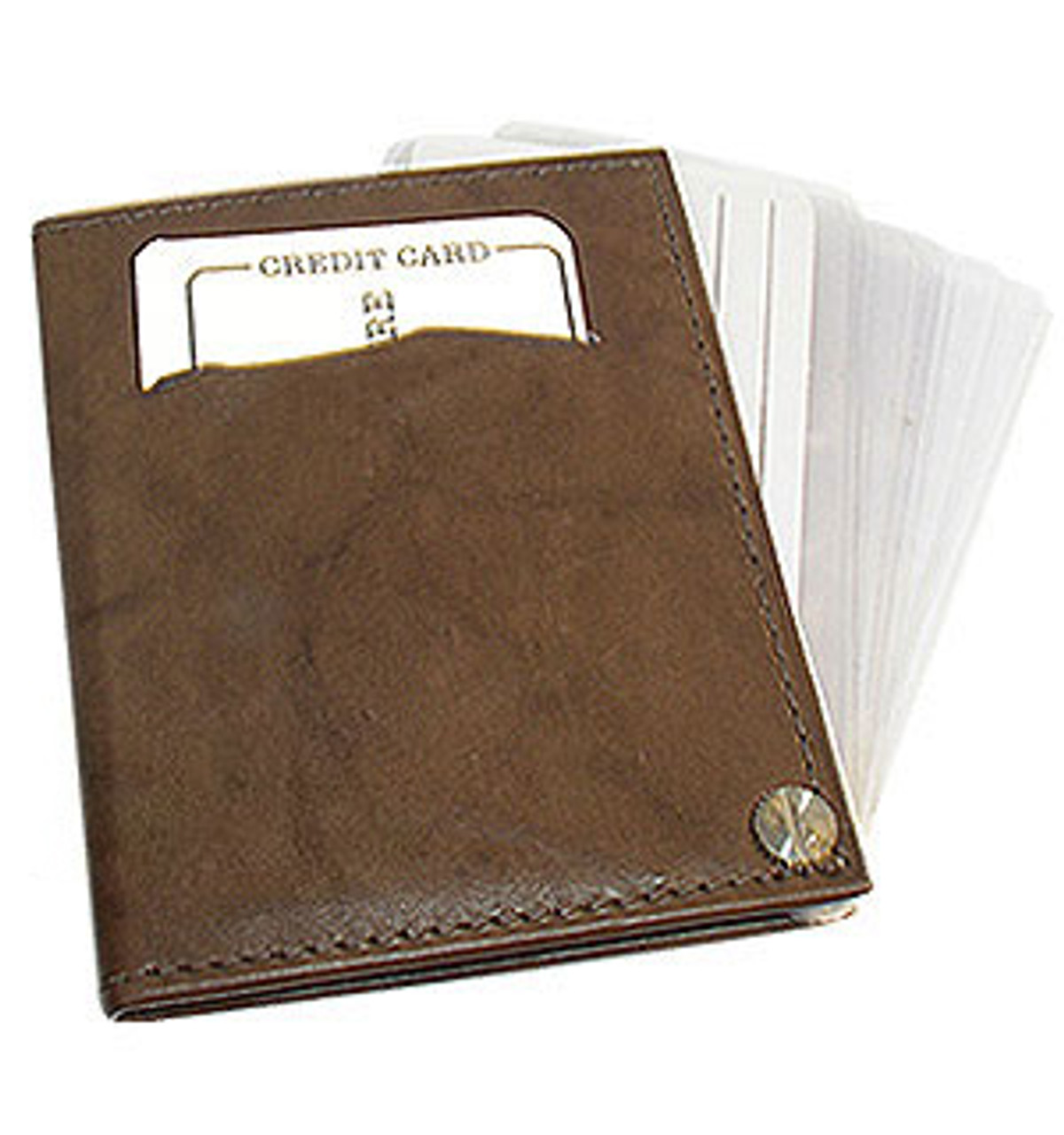 Leather Cowhide Credit Card Holder Wallet Available in Different Colors #MW571MT