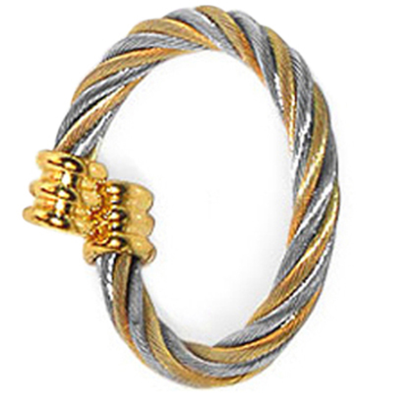 Twisted Wire Two Tone Magnetic Band