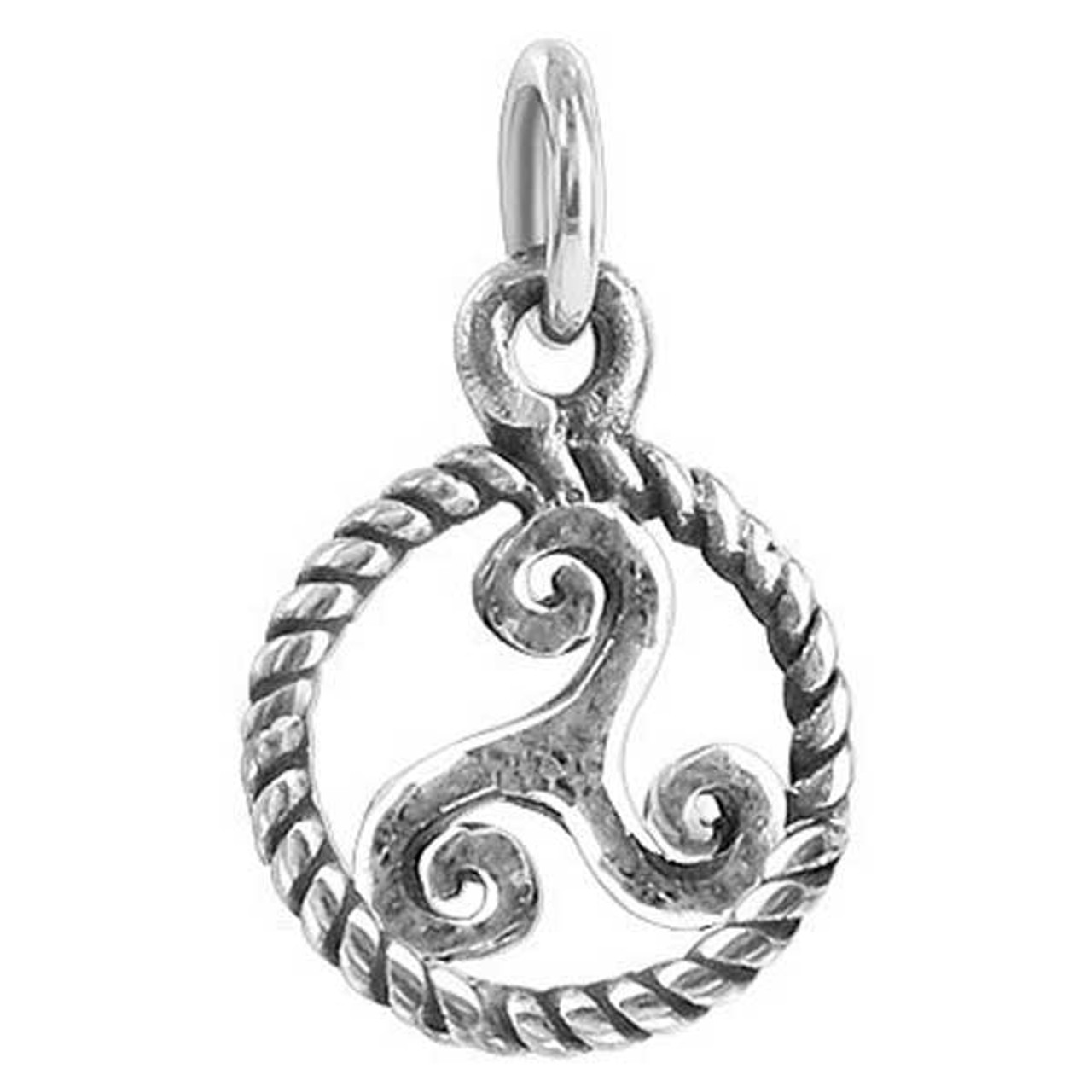 925 Sterling Silver Round Celtic Pendant