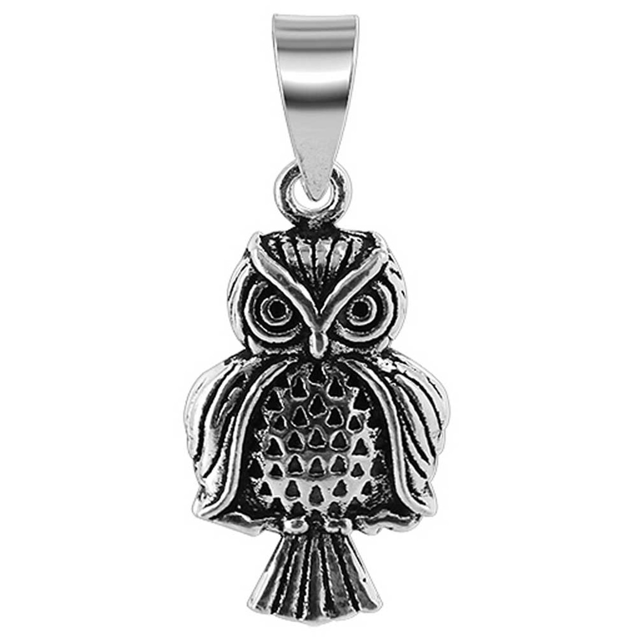 Sterling Silver Owl Pendant