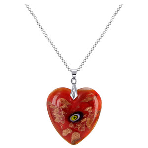 Stainless Steel Red Color Heart Pendant