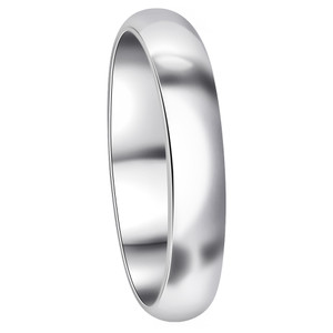 925 Sterling Silver 4mm Wedding Band #2302x