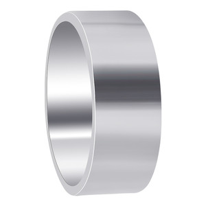 Mens 925 Sterling Silver Polish Finish 8mm Band