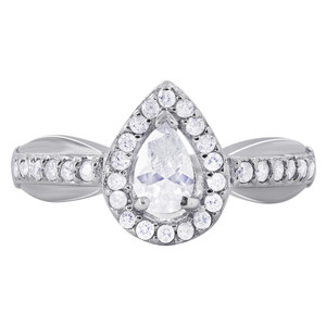 Cubic Zirconia Pear Shaped Rings