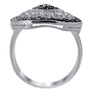 Sterling Silver CZ with Marcasite Rings