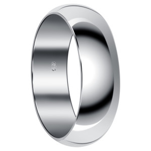 Men's 925 Sterling Silver 8mm Wedding Band #bdr1016