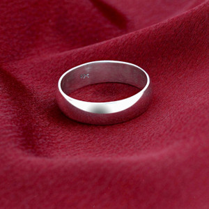 Men's 925 Sterling Silver 6mm Wedding Band #BDR1018