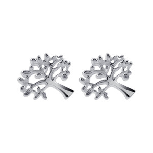 925 Sterling Silver Tree of Life Post back Stud Earrings #GE312