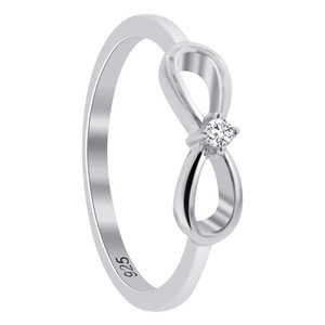 Clear Cubic Zirconia Solitaire Ring
