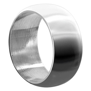 Mens 925 Sterling Silver 12mm Wedding band
