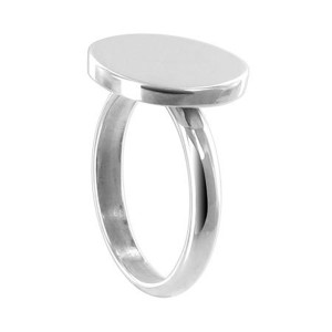 925 Sterling Silver Engravable 14mm Round Ring #BDRS026