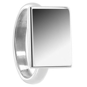 Engravable Rectangular Ring