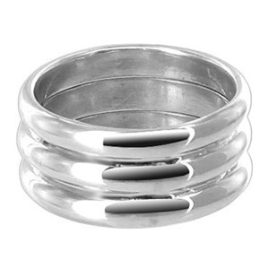 925 Sterling Silver 3 Tire Band