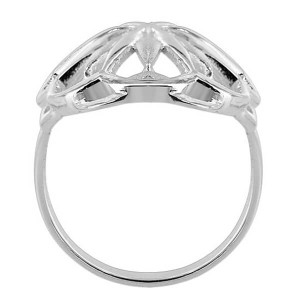 925 Sterling Silver Oval Design 3mm Ring