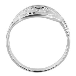 925 Sterling Silver Swirled Oval 3mm Ring