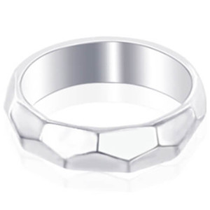 925 Sterling Silver Faceted 5mm Band