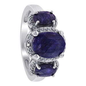 Dyed Sapphire Gemstone Ring
