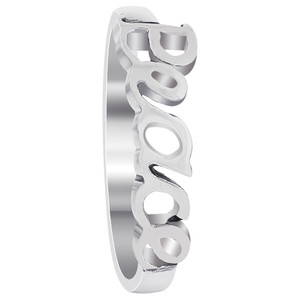 Sterling Silver Peace Sentiments Ring