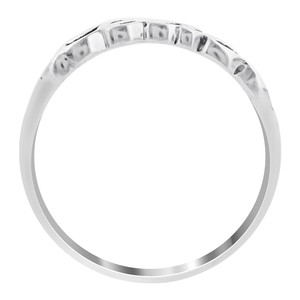 925 Sterling Silver Peace Sentiments 6mm wide Ring