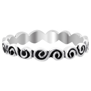 Sterling Silver Swirl Design Band