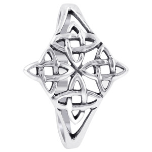 925 Sterling Silver Celtic Knot Filigree Ring