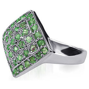 Sterling Silver Peridot Gemstone Ring