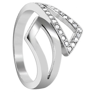 925 Sterling Silver Cubic Zirconia Round Ring
