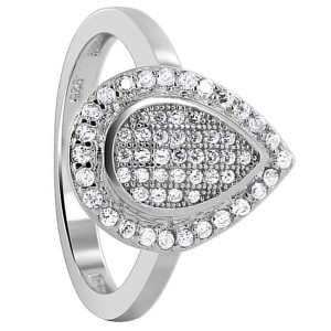 Cubic Zirconia Studded Round Ring
