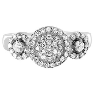 Cubic Zirconia Studded Ring