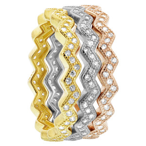 Sterling Silver Zig Zag Band